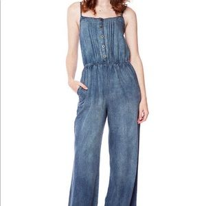Flying Tomato Chambray Jumpsuit